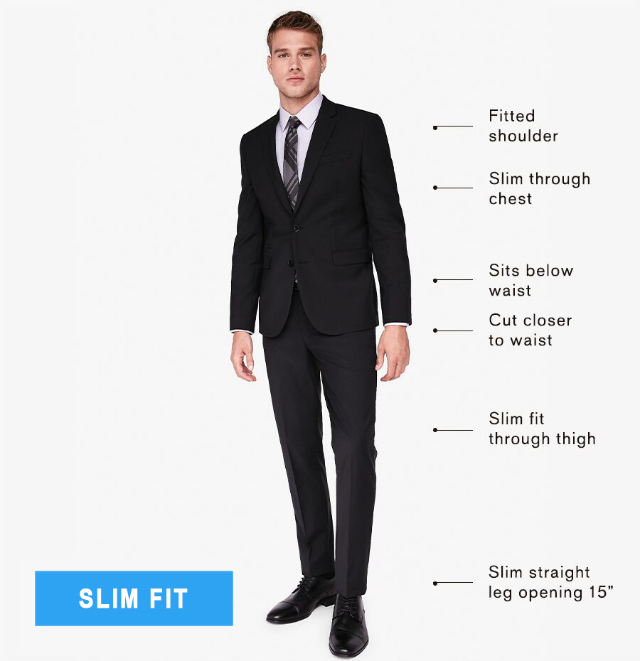 slim fit suits explained