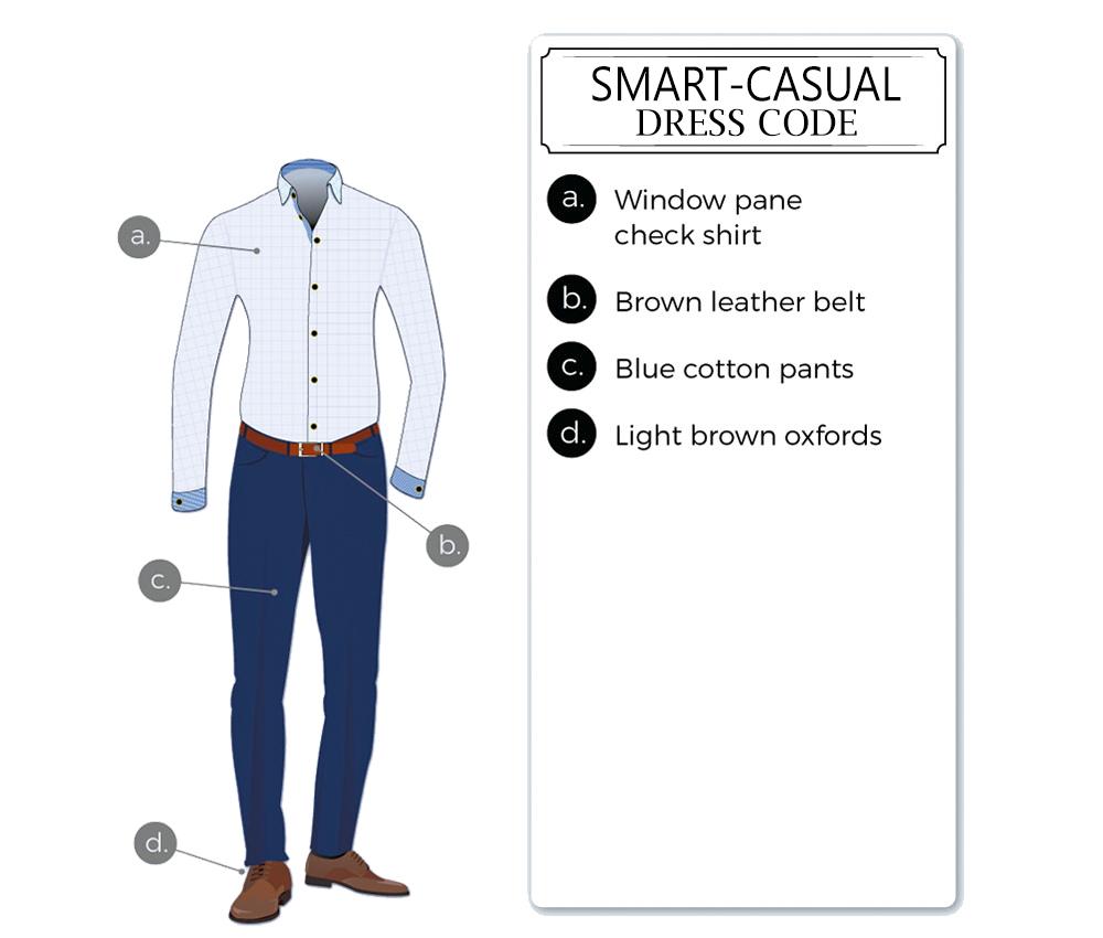 smart-casual dress-code attire for men