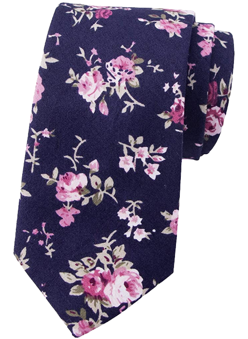 Purple pink floral tie by Spring Notion
