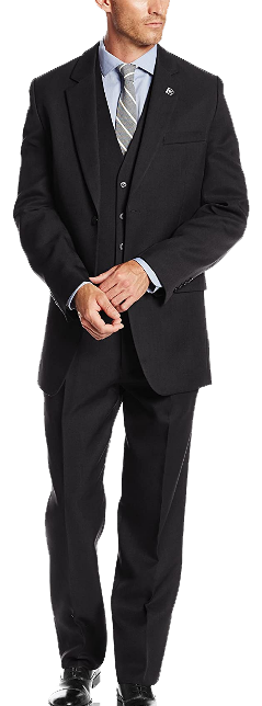 Three-piece classic fit suit by Stacy Adams