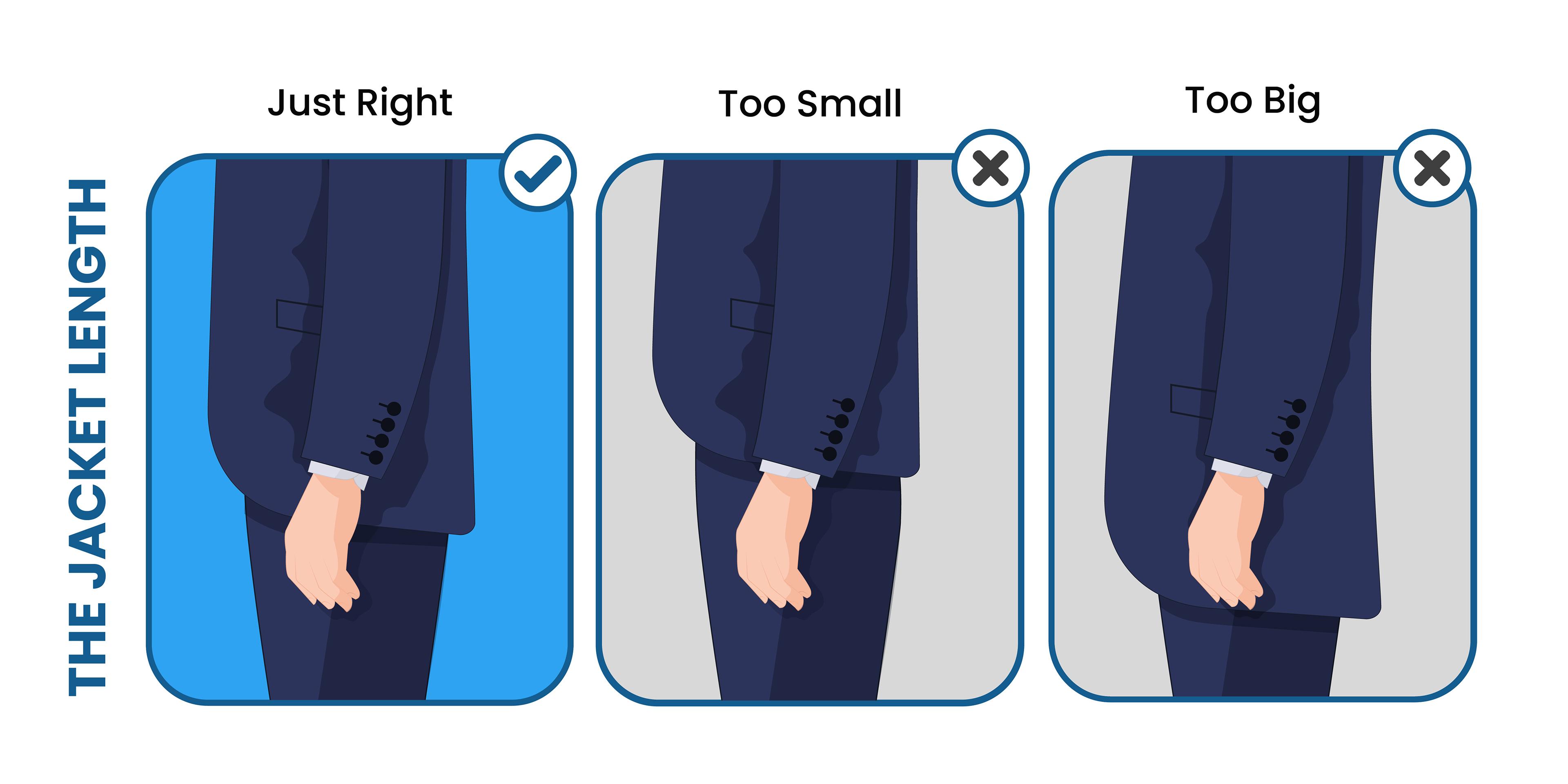 proper suit jacket length
