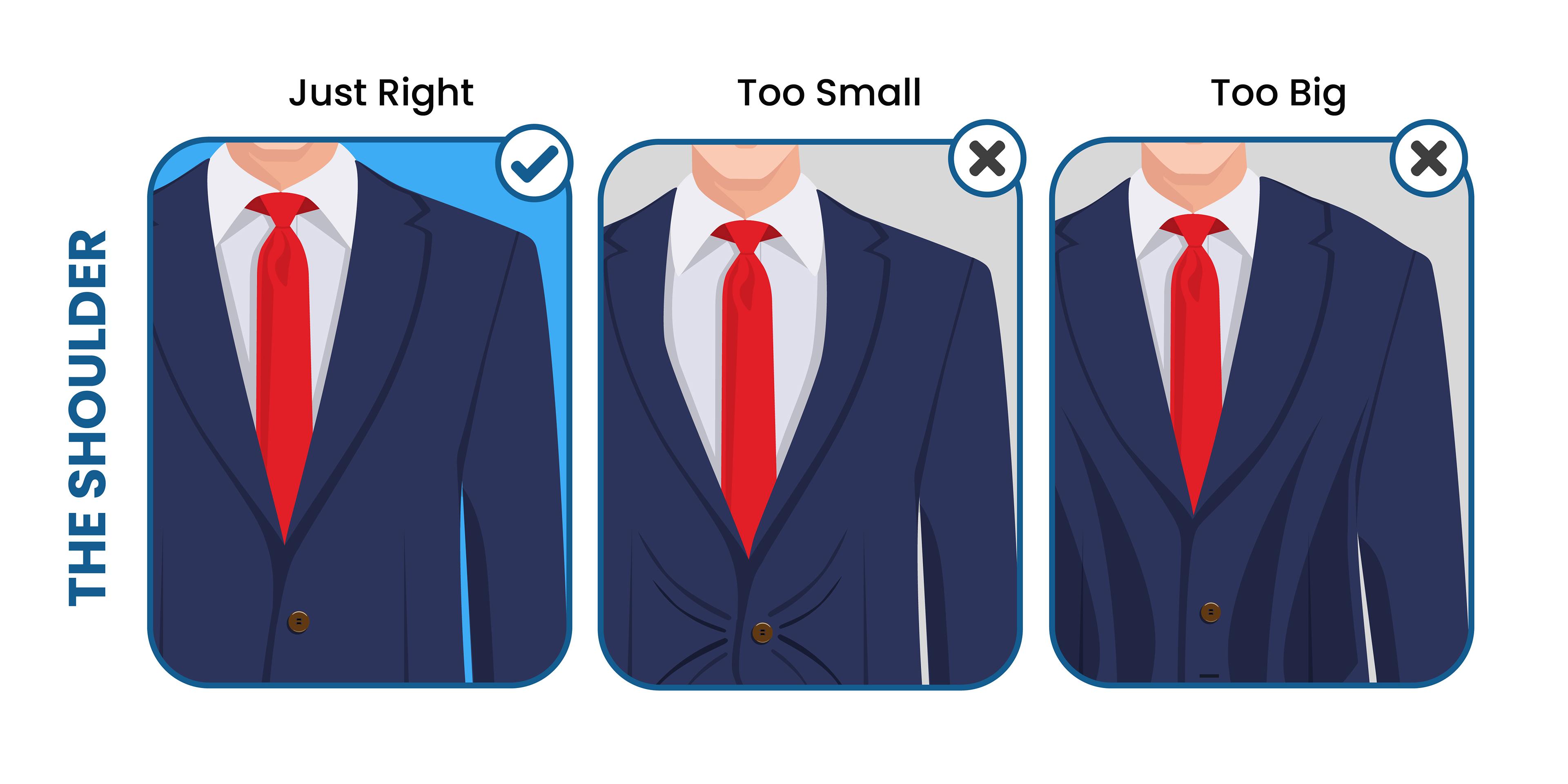 how the suit jacket shoulder should fit