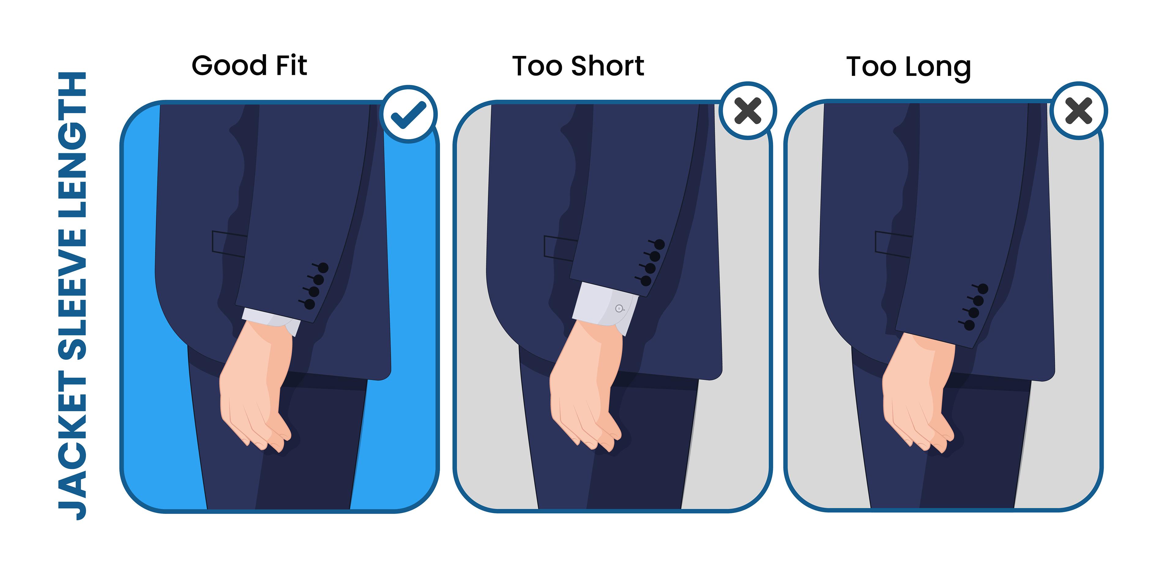 proper suit jacket sleeve length