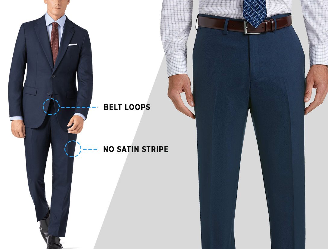 tuxedo pants key features