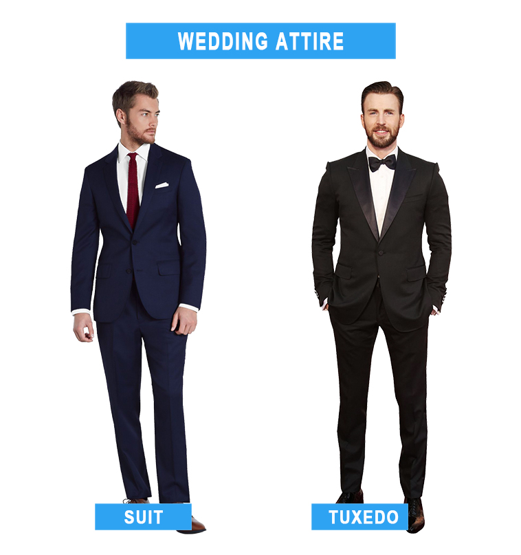 suit vs. tuxedo as wedding attire