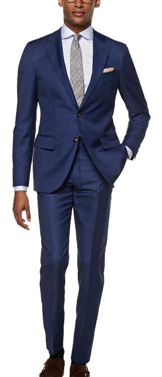 blue wool slim-fit suit by SuitSupply