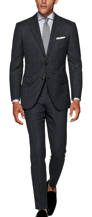 grey wool slim-fit suit by SuitSupply