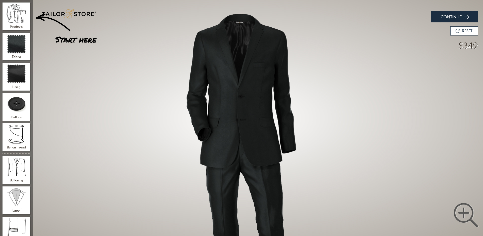 Tailor Store made-to-measure suit online customization