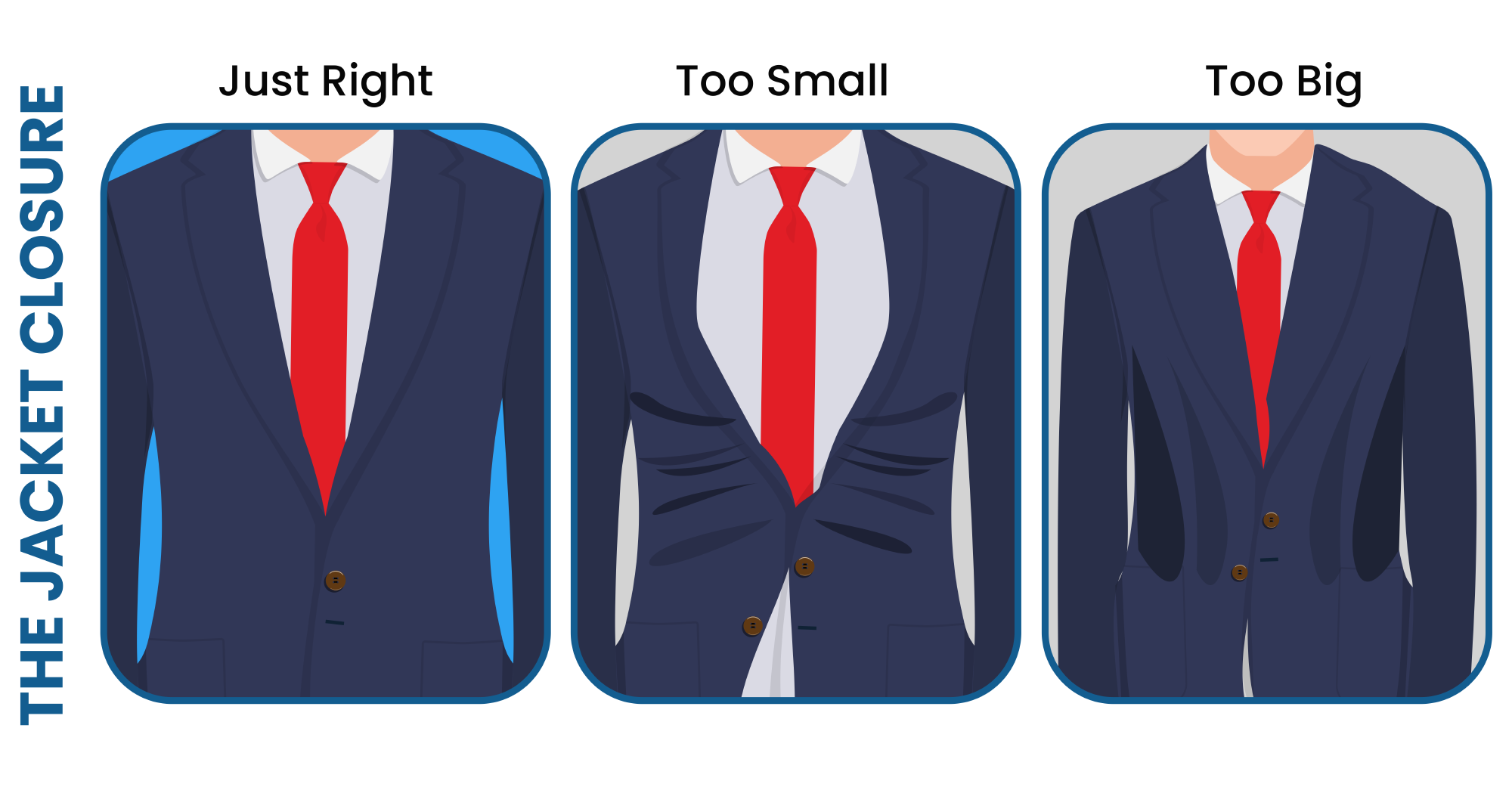 The jacket closure is paramount for a good suit fit