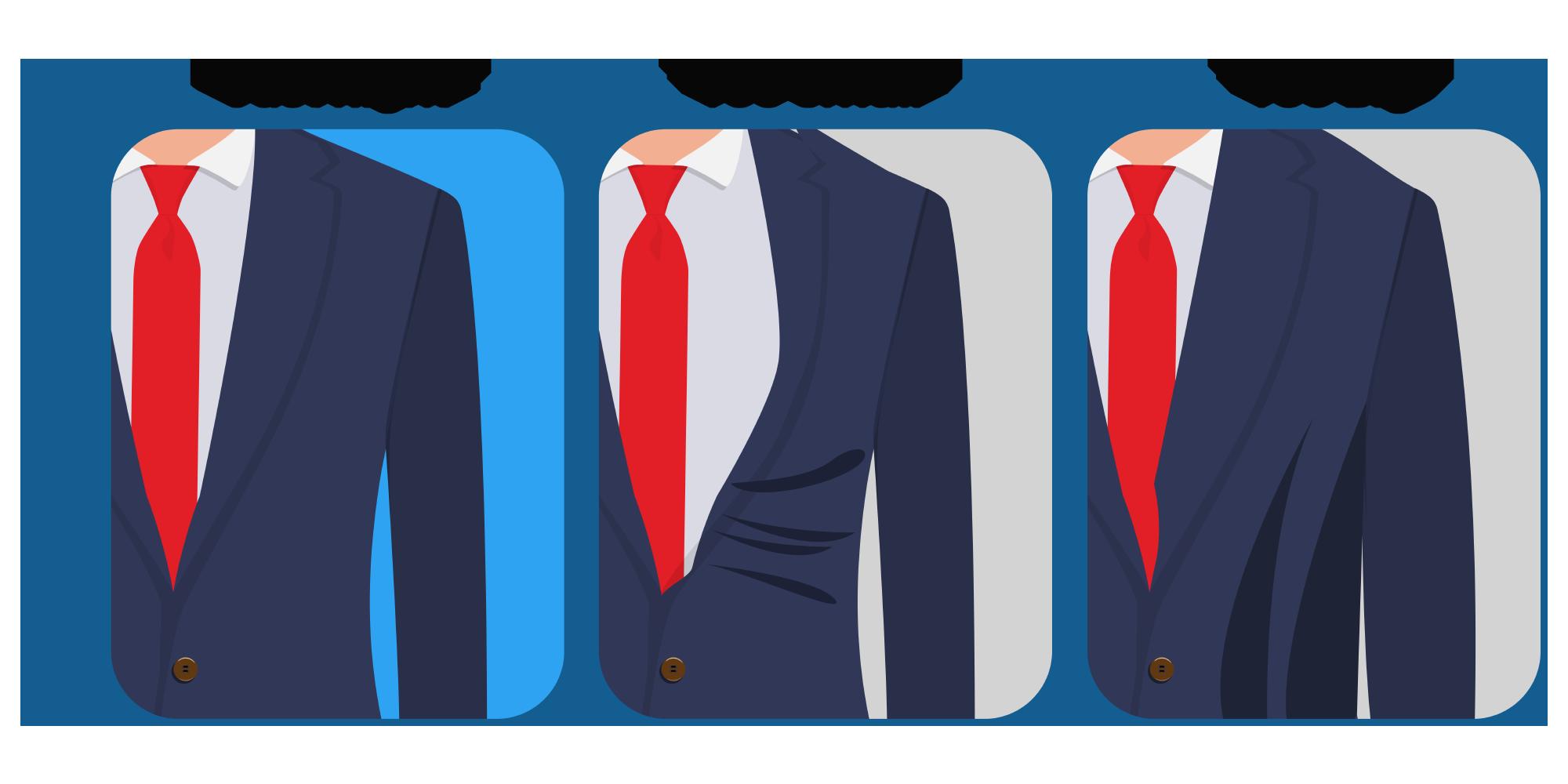 The jacket shoulder fit