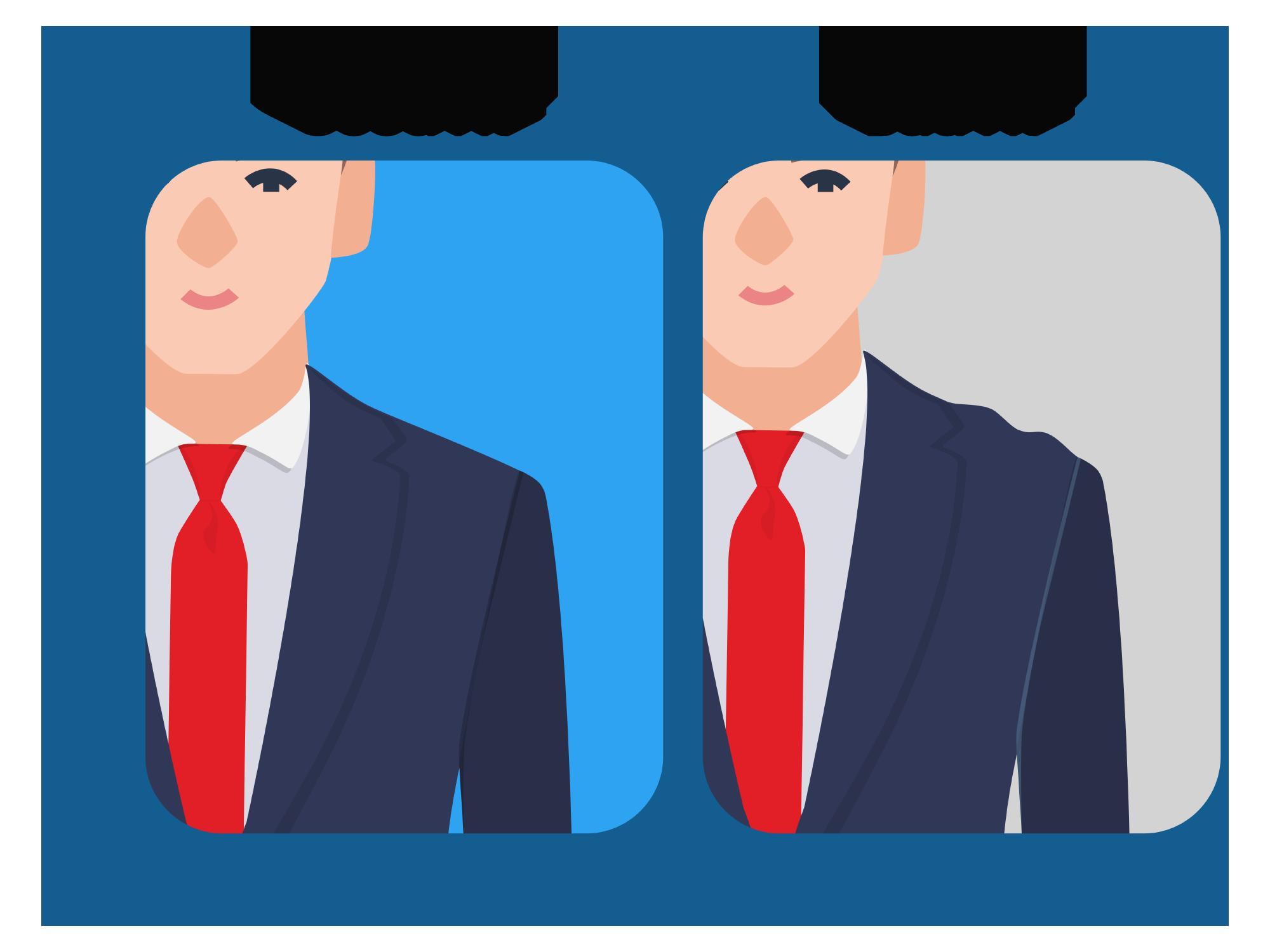 Suit jacket shoulder wrinkles