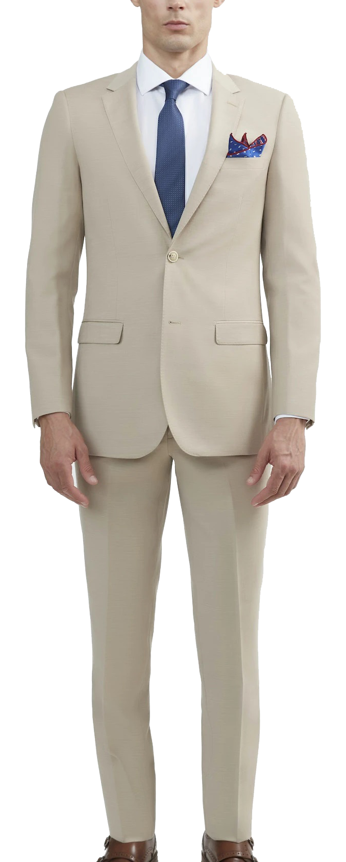 Beige tan suit made of Italian wool by Tomasso Black