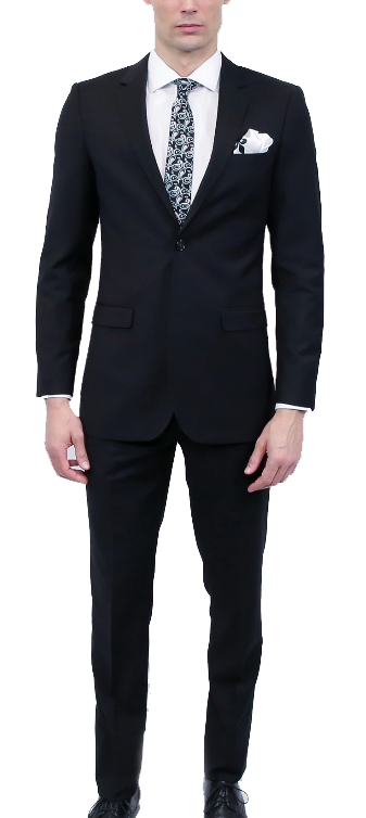 Modern-fit two-piece suit by Tomasso Black