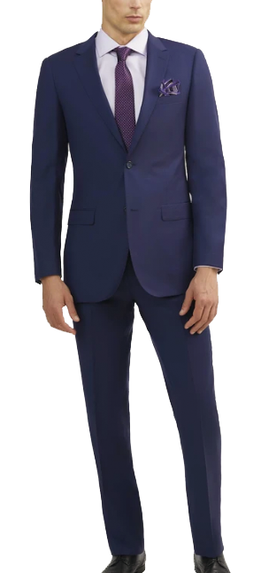 Two-piece blue suit made of Italian wool by Tomasso Black