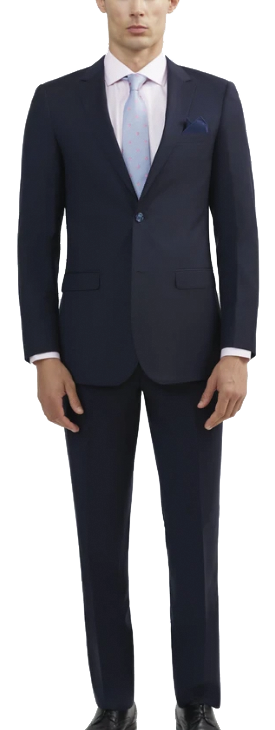 Italian wool navy suit by Tomasso Black