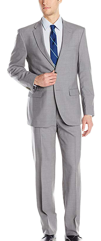 Slim fit light-grey suit by Tommy Hilfiger