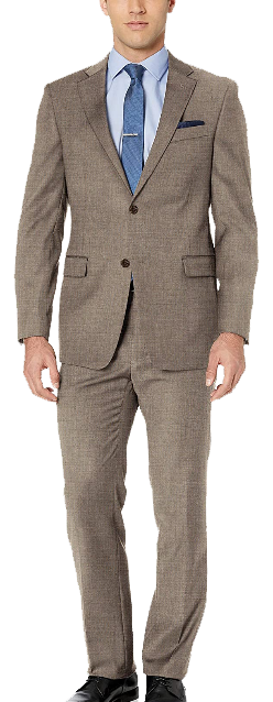 Modern fit brown suit by Tommy Hilfiger
