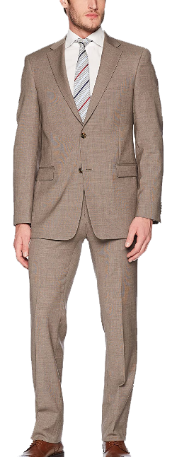 Modern fit brownish tan suit by Tommy Hilfiger