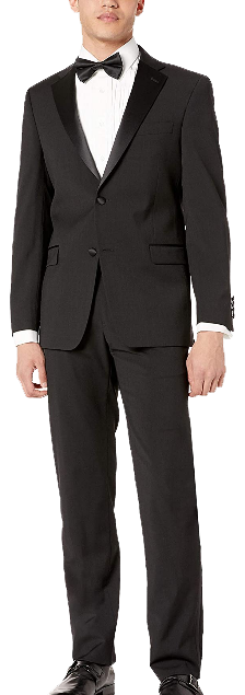 Two-piece classic fit black tuxedo by Tommy Hilfiger