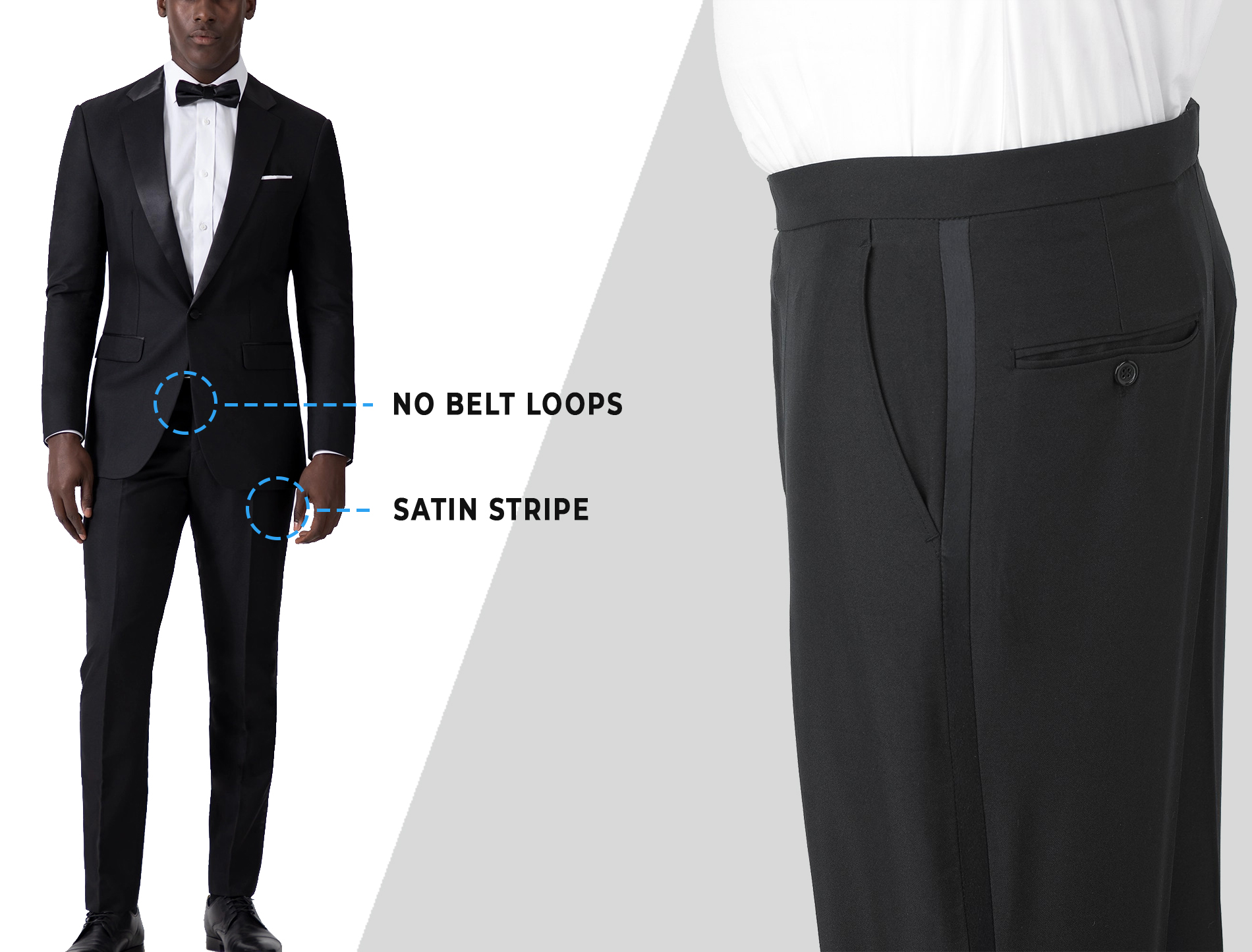 how to wear tuxedo pants