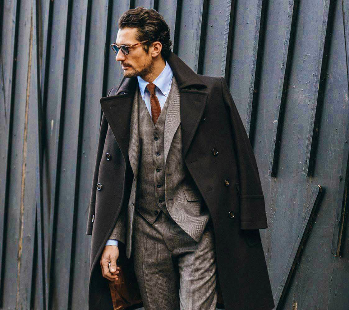 tweed suit for fall and winter season