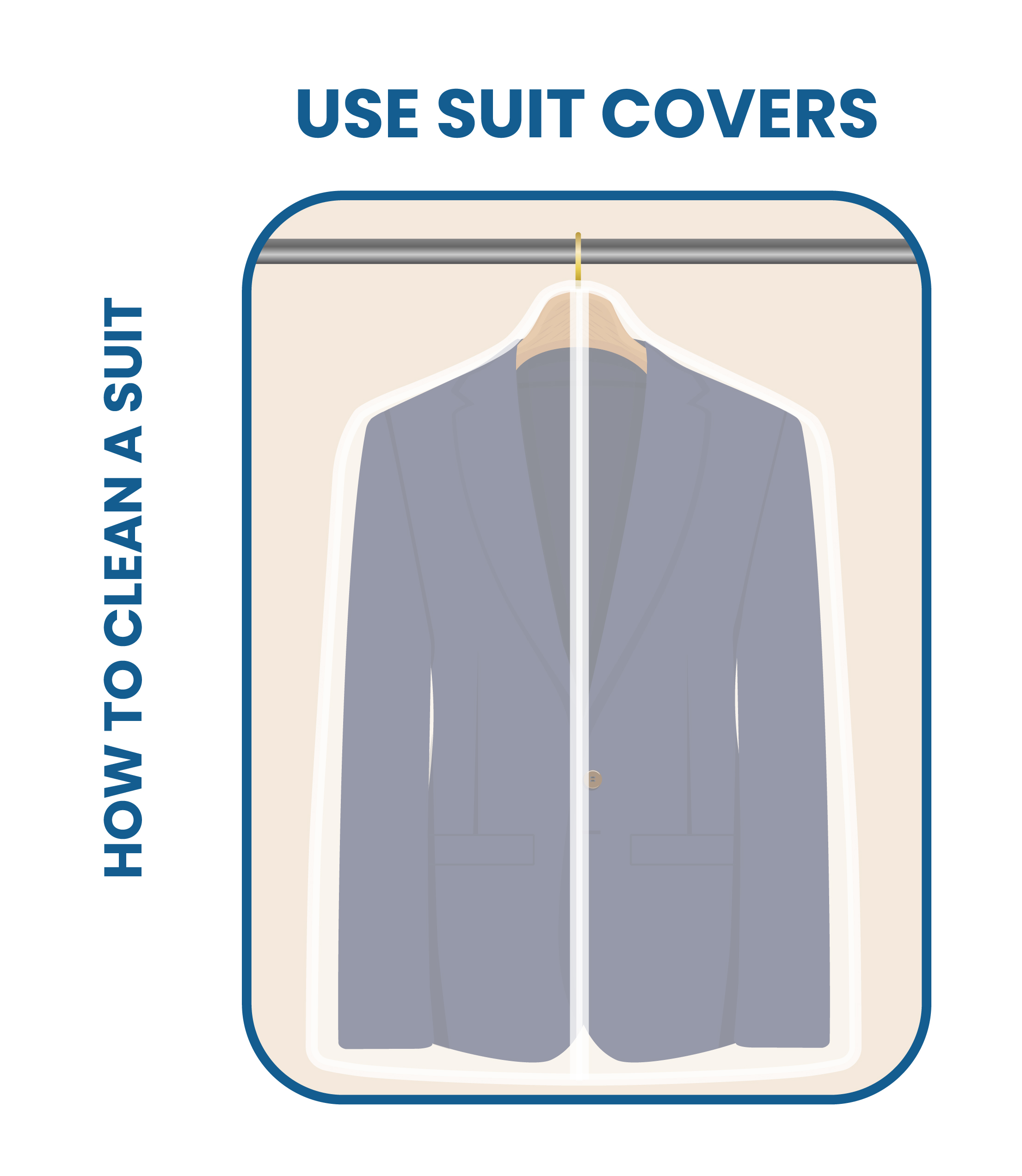 use high-quality suit hangers