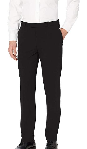 straight-fit flex black dress slacks by Van Heusen