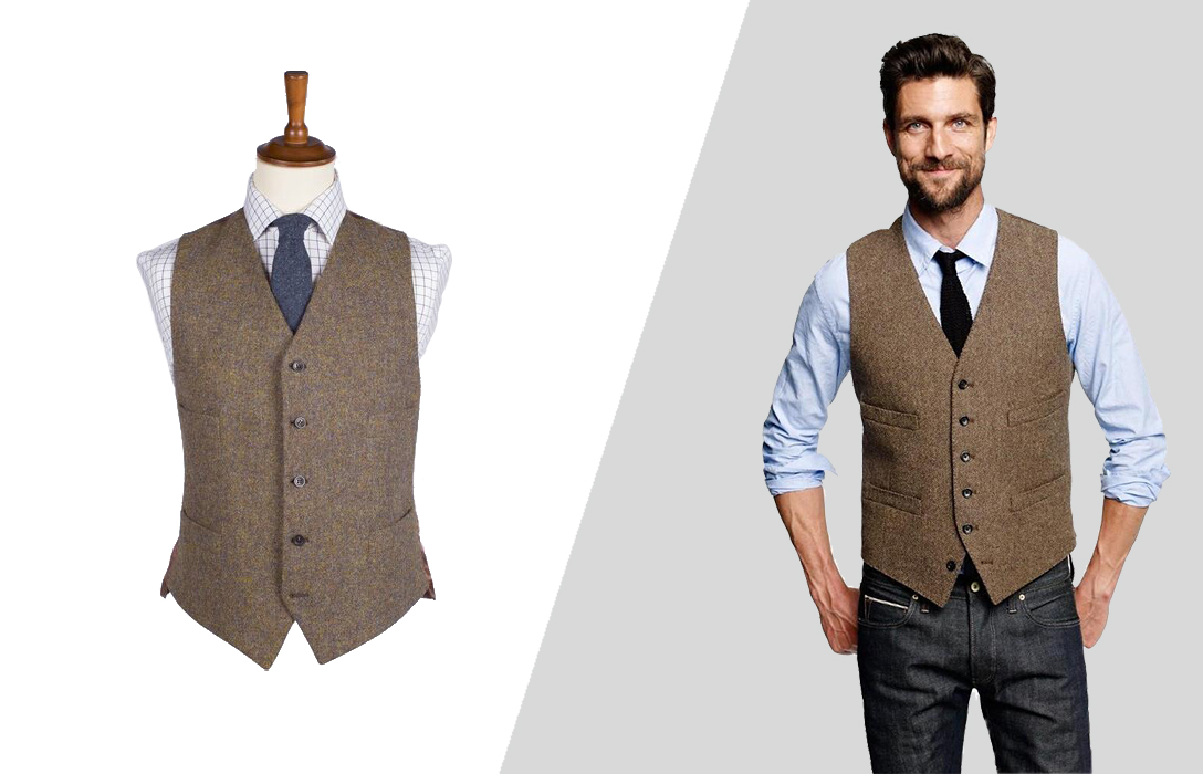 wearing vest with jeans: smart-casual look
