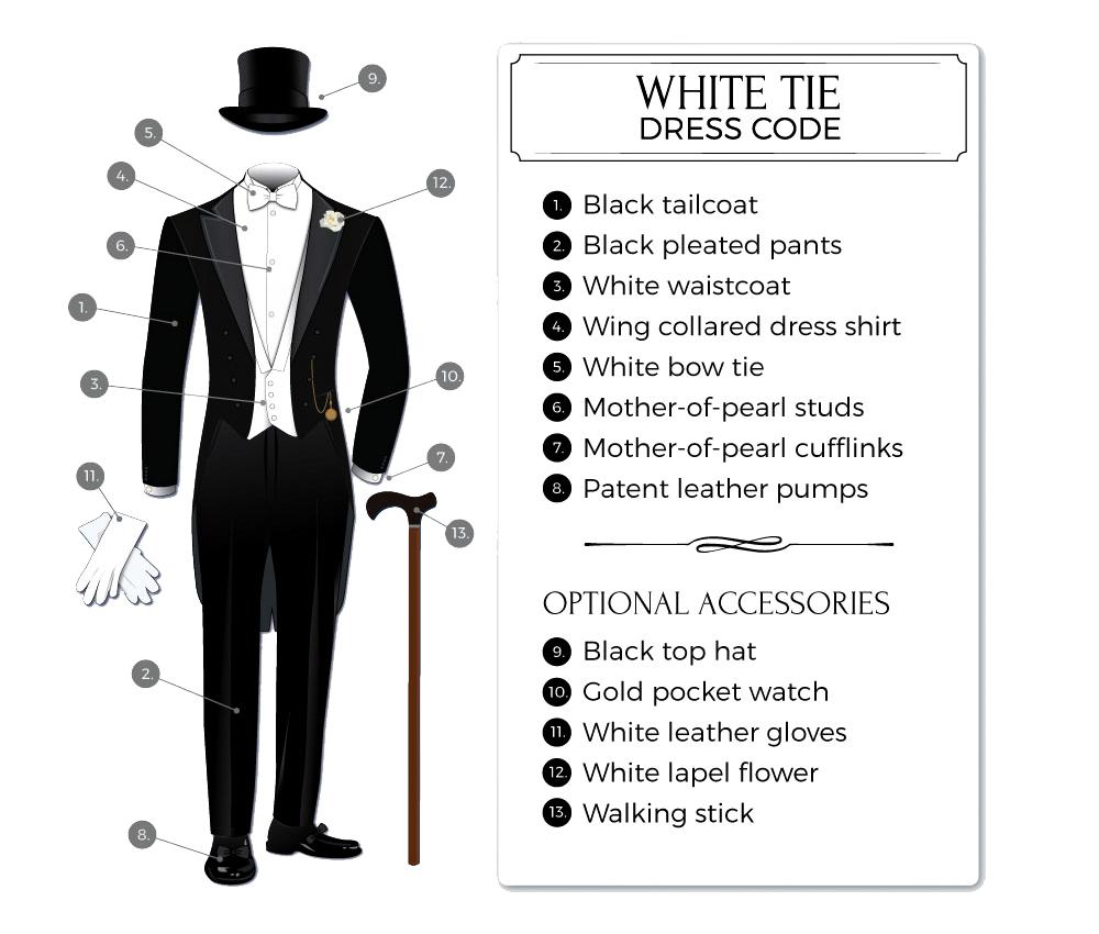 white-tie formal attire for men