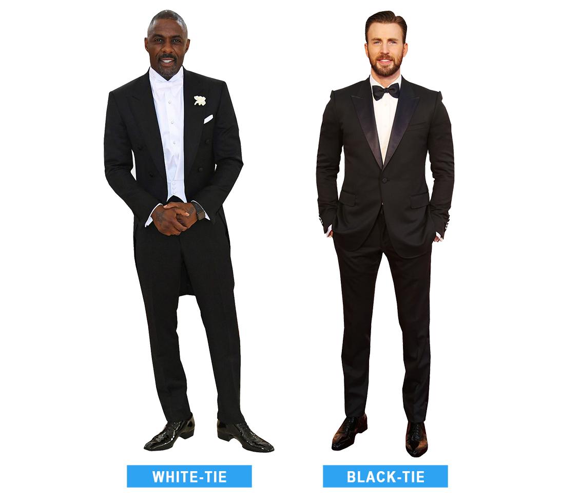 white-tie vs. black-tie formal attire